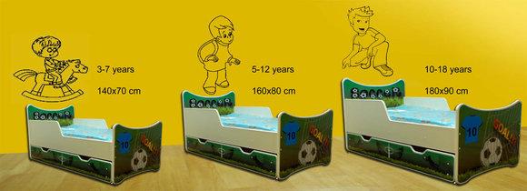 Bett mit Matratze und Schublade Kinderbett Kinderzimmer Motivwahl