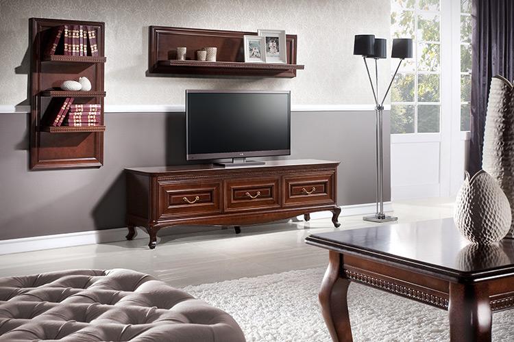 Komplett Wohnzimmer Klassisch Couchtisch Regal RTV Tisch Regal Kommode - Verona