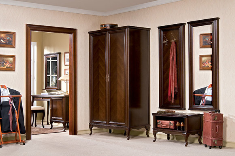 Diele Garderobe Set Echtes Holz Flur Wandgarderobe Italienische Möbel Garderoben