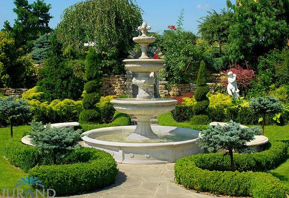 Springbrunnen Fontäne Zierbrunnen Garten 1001 Deko Brunnen 280 Cm Steinguss