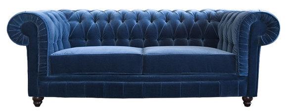 Designer Sofa Chesterfield British Style Vintage 3 Sitzer Chester Yale