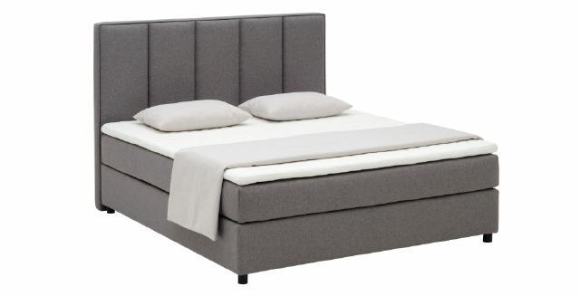 Continental Boxspring Bett Betten Polster Hoch Doppel Leder Textil Bett Neu M202