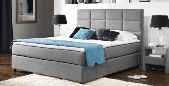Continental Boxspring Bett Betten Polster Hoch Doppel Leder Textil Bett Neu M101