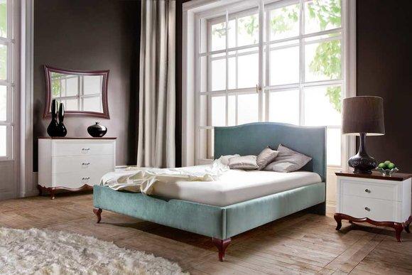 Designer Bett Betten Ehebett Doppelbett Polsterbett Lederbett - Model CL-2