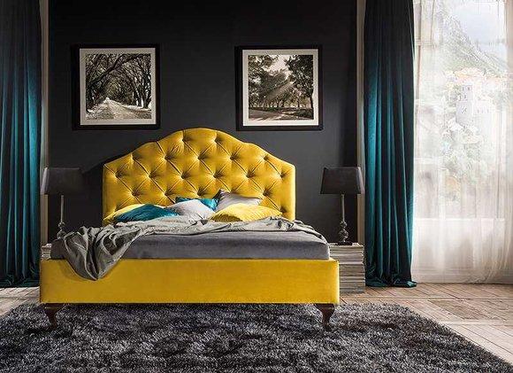 Designer Bett Betten Ehebett Doppelbett Polsterbett Lederbett - Model CL-4(A)