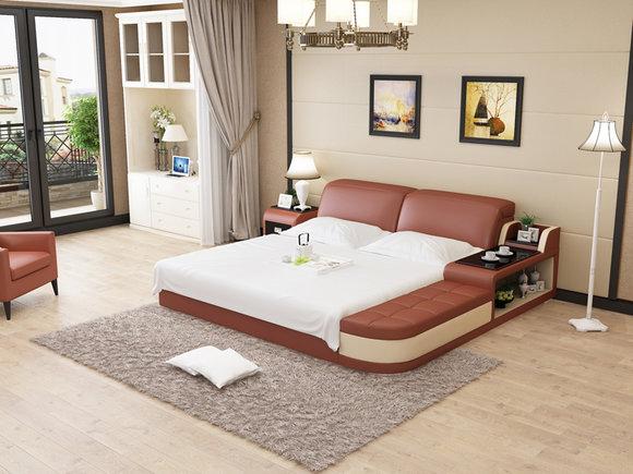Design Leder Bett Luxus Polster Betten Doppel Modernes Ehe 140/160/180  LB8820