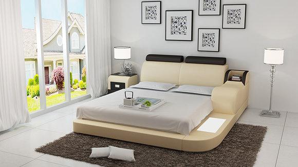 modernes schlafzimmer design, bett design luxus luxus betten leder modernes schlafzimmer 140/160, Design ideen
