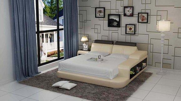 bett design luxus luxus betten leder modernes schlafzimmer 140/160, Design ideen