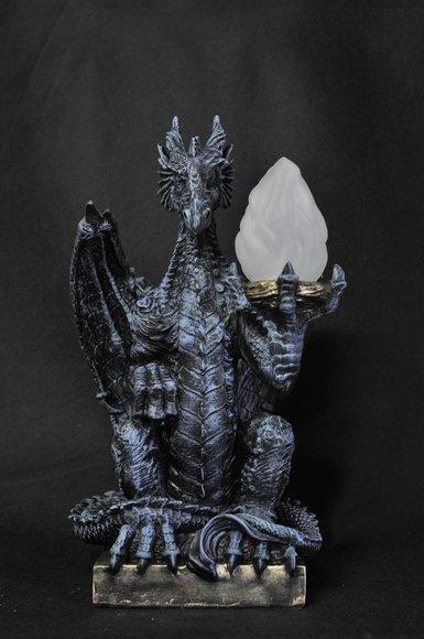 Design Gothik Stehleuchte Lampe Stand Leuchte Leuchten Drachen Lampen P6821 55cm