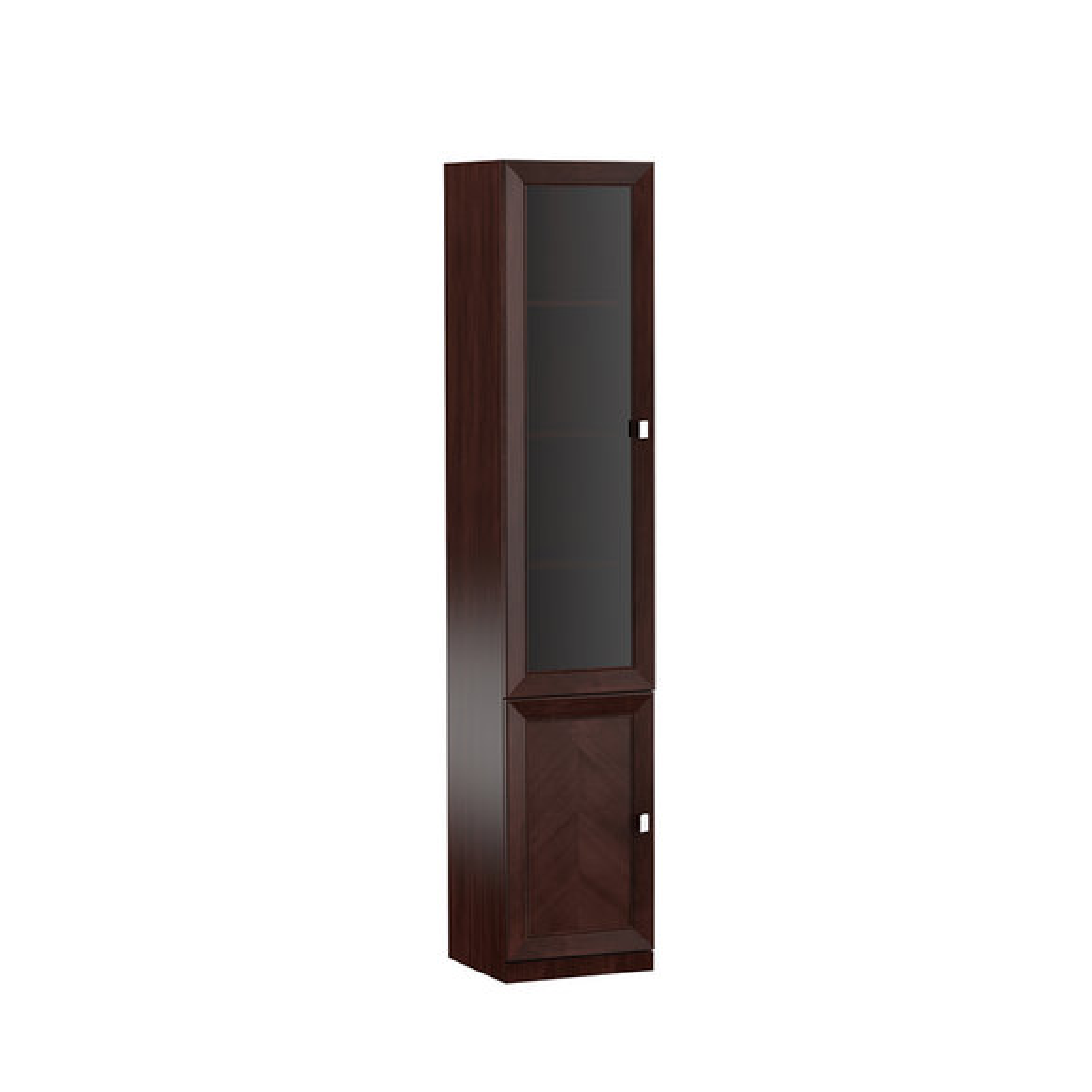 System Büro Möbel Vitrine Aktenschrank Klassischer Holz Schrank Regal Monaco M5