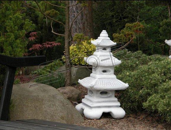 Japanischer Garten Lampen Dekoration Beleuchtung Vogel Tränke Skulptur S106003
