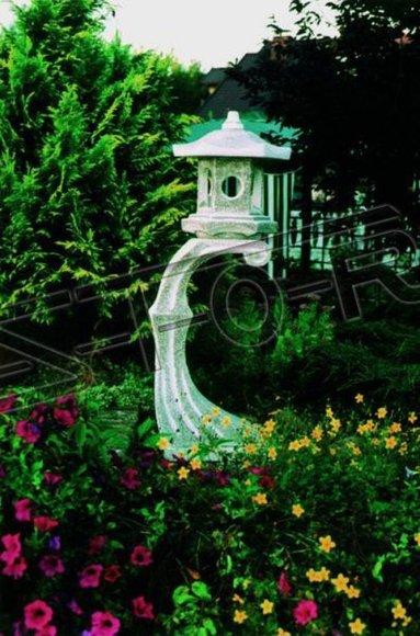 Japanischer Garten Lampen Dekoration Beleuchtung Vogel Tränke Figur Skulptur 610