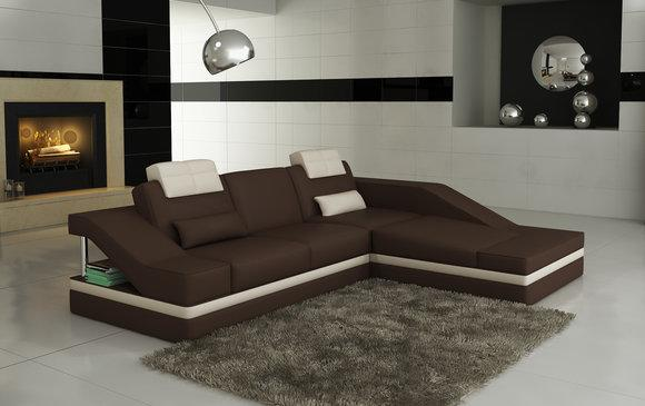 Moderne Ledersofa Ecksofa L Form Couch Polster Sitz Ecke ...