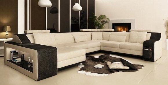 Moderne Wohnlandschaft Polster Ecksofa Sofa Couch Eck ...