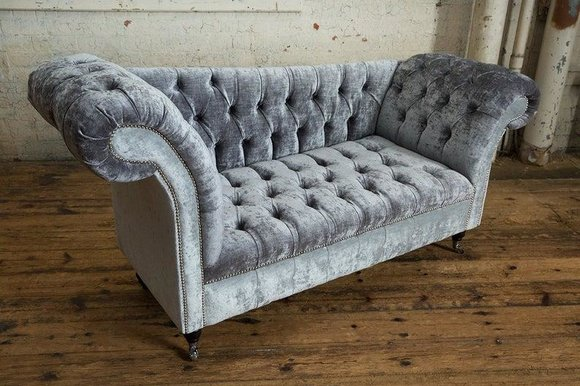Design Chesterfield Stoff Couch Chaise Lounge Polster Neu Chaiselongues Sofas