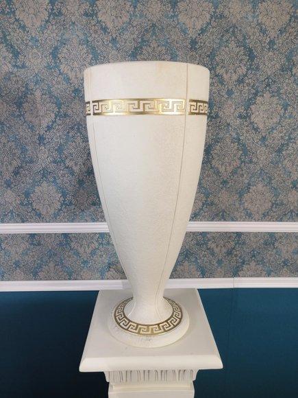 XXL Big Vase Design Medusa Antik Stil Blumen Vasen Raum Deko 65cm Dekoration