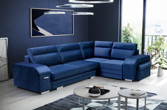 Ecksofa Sofa Couch Polster Eck Wohnlandschaft Wohnzimmer ...