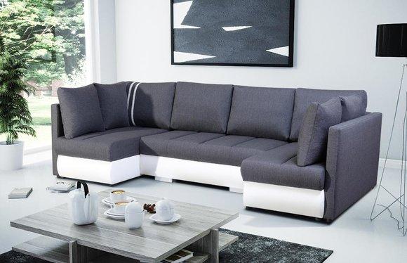 XXL Wohnlandschaft Sofa Couch Polster Garnitur Ecke ...