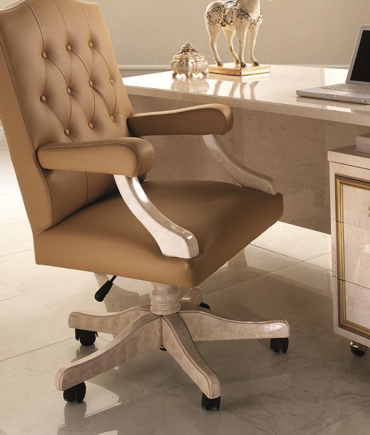 Chefsessel Bürosessel Office Sessel Stuhl Chef Leder Barock Rokoko Designer