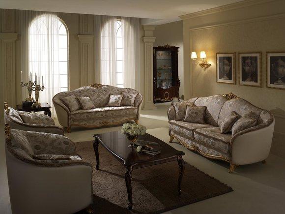 Luxus Klasse 2+1+1 Italienische Möbel Sofagarnitur Couch Sofa arredoclassic™ Neu