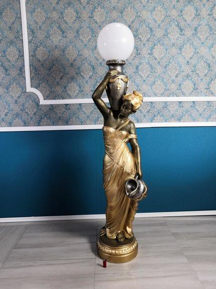 Stehleuchte Lampe Leuchte Statue Figur Skulpturen Skulptur Statuen Standlampe