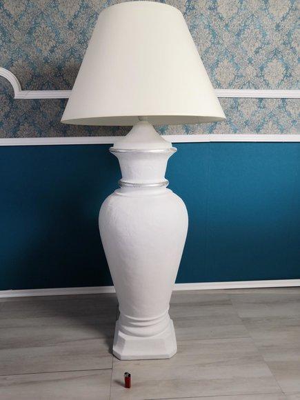 XXL Design Stehleuchte Vase Stand Lampe Lampen Beleuchtet Vitrine 132cm Regal