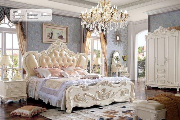 Chesterfield Leder Luxus Betten Bett + 2 x Nachttische Royal Doppelbett SOFORT