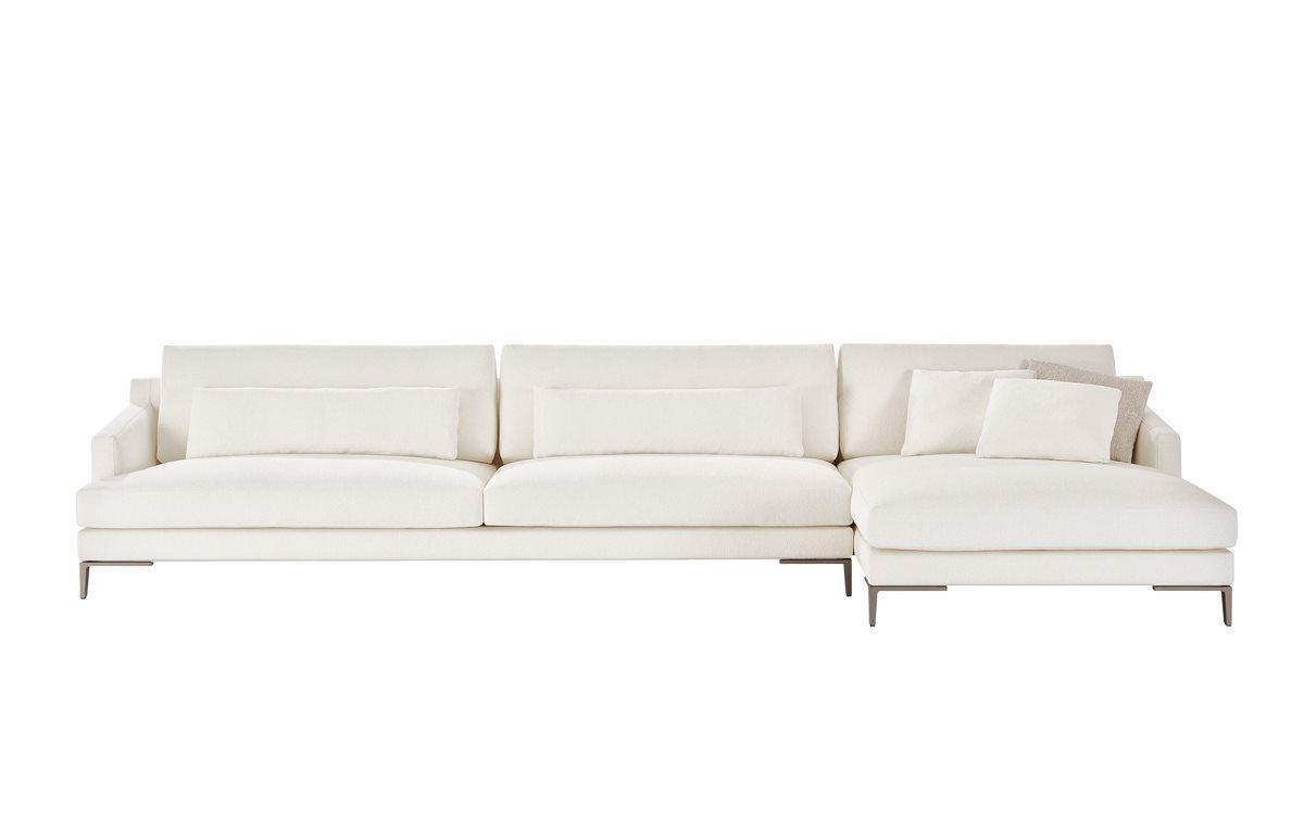 Weiß Couch Wohnlandschaft Stoff Eck Garnitur Design Modern ...