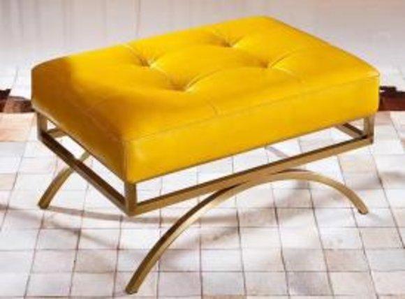 Hocker Polsterhocker Fuß Ablage Möbel Wohnen Sitzbänke Sitz Textil Neu Designer