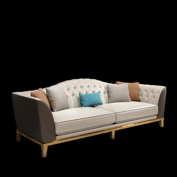 Chesterfield Edelstahl Couch Sitz Leder Wohnzimmer Polster Sofa 3+2 Garnitur