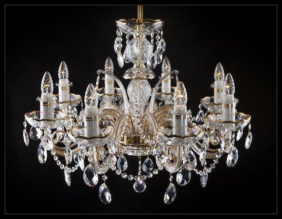 Klassischer Kronleuchter Leuchte Lampe Decken Beleuchtung Kristall Neu Bohemia