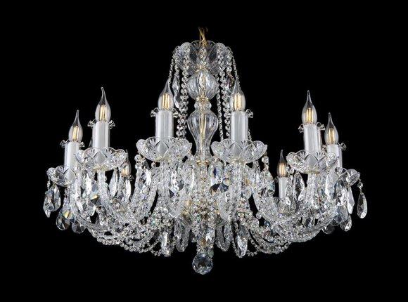 Kron Leuchter Lampe Decken Lampen Kristall Leuchten Beleuchtung Bohemia Leuchte