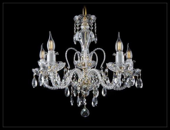 Kron Leuchter Lampe Decken Leuchte Leuchten Lampen Kristall Beleuchtung Bohemia