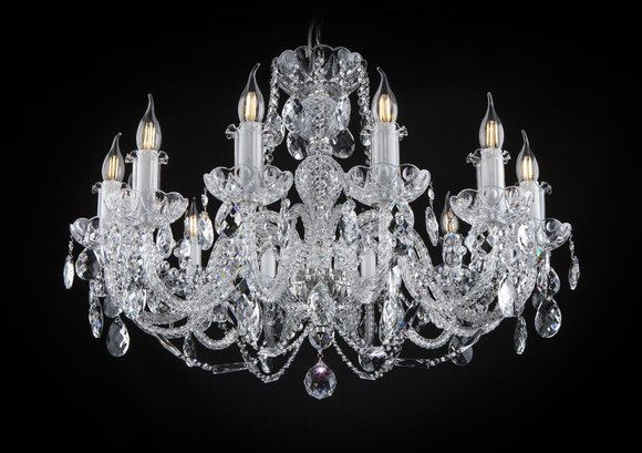 Kron Leuchter Lampe Leuchte Decken Lampen Kristall Leuchten Beleuchtung Klassik