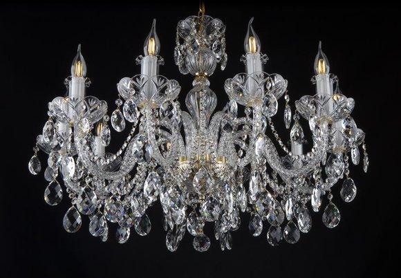 Kron Leuchter Lampe Decken Lampen Kristall Leuchten Beleuchtung Klassik Leuchte