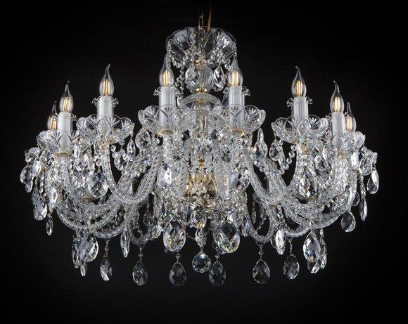Klassischer Leuchte Lampe Kronleuchter Decken Beleuchtung Kristall Neu Bohemia