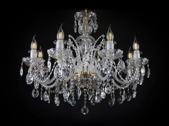 Kron Leuchter Lampe Decken Leuchte Leuchten Lampen Kristall Beleuchtung Pendel