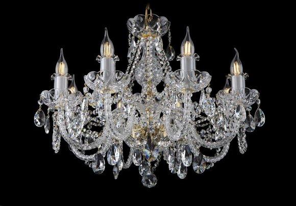 Kron Leuchter Lampe Lampen Kristall Leuchten Beleuchtung Bohemia Leuchte Decken