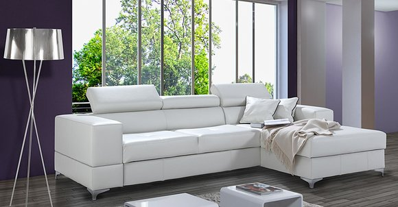 Ecksofa L-Form Sofa Design Polster Modern Textil ...