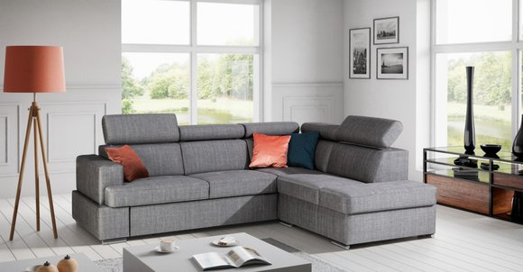 Bettfunktion Stoff Ecksofa L-Form Sofa Couch Design Couch ...