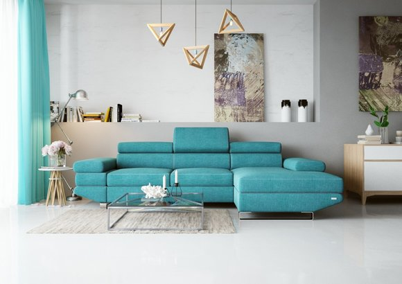 Eck Stoff Ecksofa L-Form Sofa Couch Design Couch Polster ...