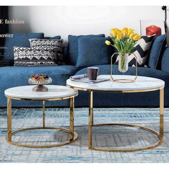 Design Couchtisch Esstisch Tisch Esszimmer Wohnzimmer Metall + Glas Set Neu