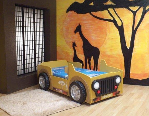 Bett mit Matratze Kinderbett Jugendbett Jeep AutoBett Betten SAFARI