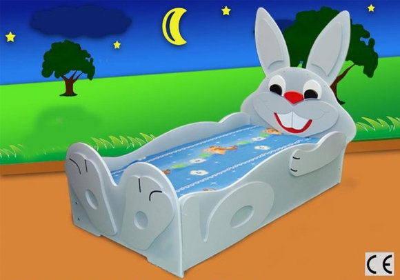 Kinderbett Jugendbett Bett Betten mit Matratze Hase