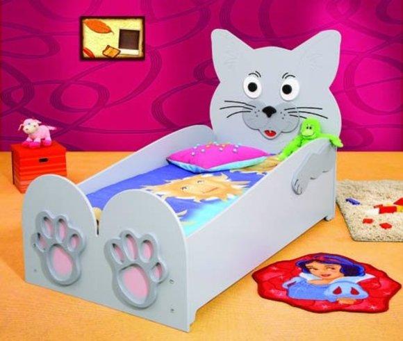 Kinderbett Jugendbett Bett mit Matratze Betten Katze