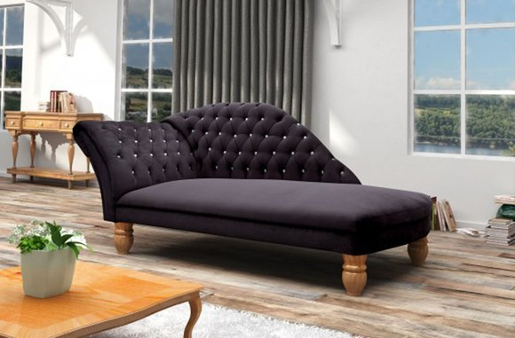 Chaiselongues Chesterfield Liege Ottomane Chaise Sofa Couch Neu Polster WINDSOR