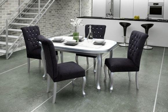 4x Chesterfield Stühle Stuhl Set Polster Garnitur Küchen Wohnzimmer  Esszimmer !