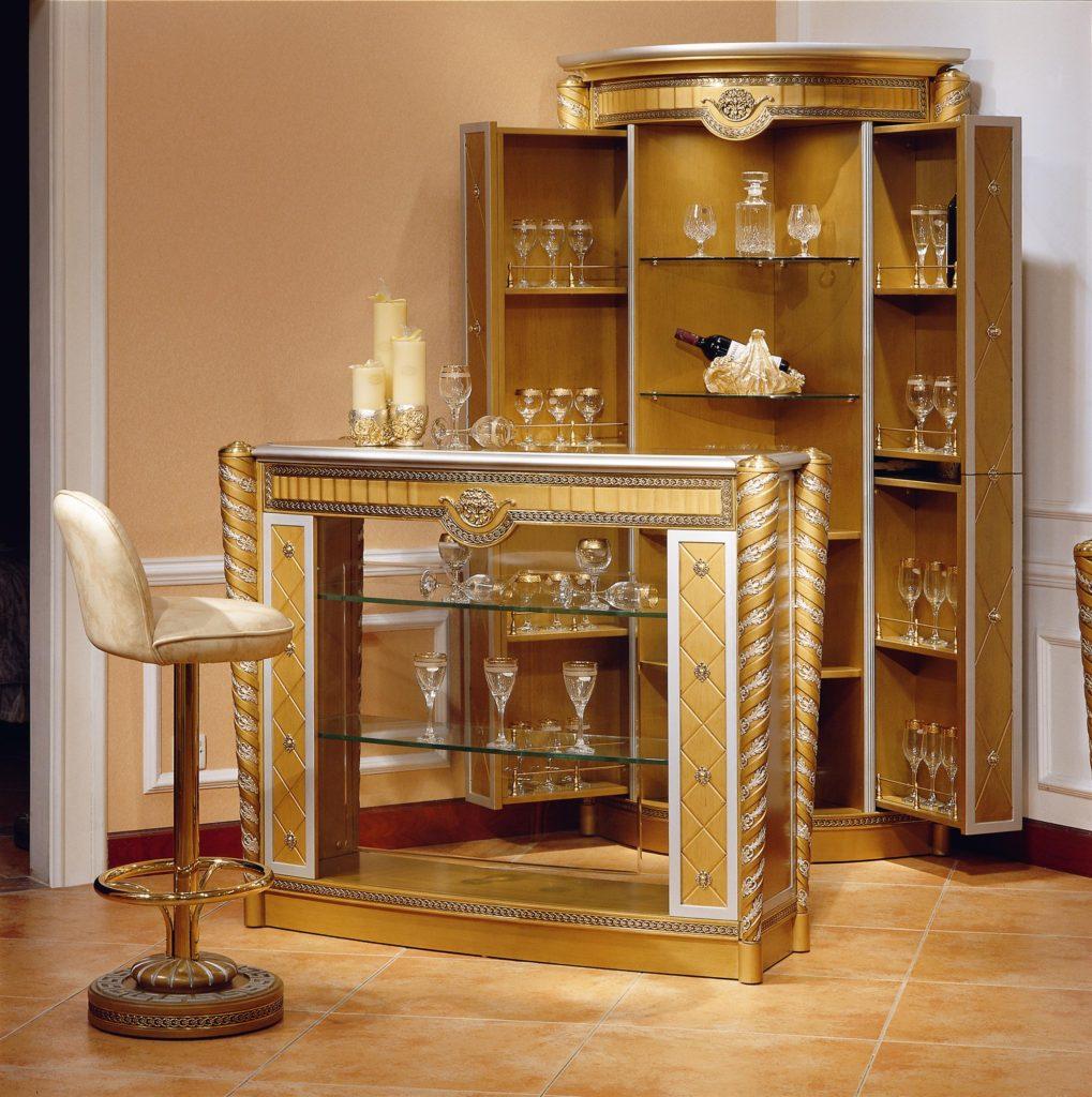 Barset Garnitur Schrank Tisch Vitrine Hocker Tisch Antik Stil Barock Rokoko Neu