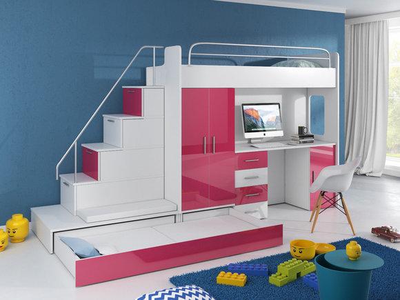 Etagenbett Zürich : Doppelstockbett stockbett bett etagenbett mit schreibtisch