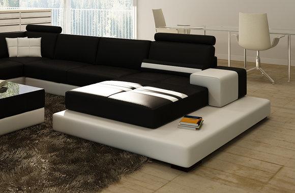 Moderne XXL Big Wohnlandschaft Sofa Couch Polster Eck ...
